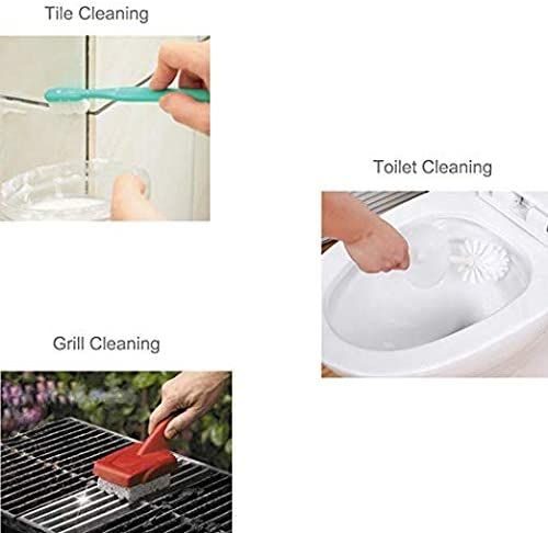 Toilet Bowl Pumice Cleaning Stone with Handle - Sturdy, High Density, Rust Grill Griddle Cleaner for Kitchen/Bath/Pool/Spa/Household Cleaning 2 Pack