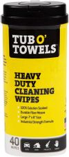 """Tub O' Towels TW40 Heavy-Duty 7"""" x 8"""" Size Multi-Surface Cleaning Wipes, 40 Count Per Canister, White"""