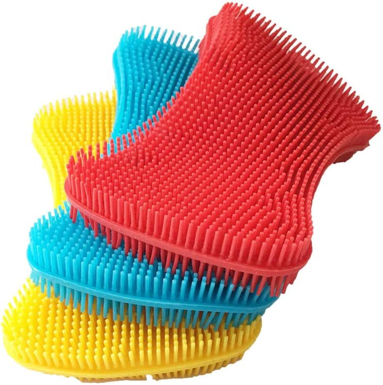 Silicone Sponge Dish Washing Kitchen Scrubber - Magic Food-Grade Dishes Multipurpose Better Sponges Non Stick Cleaning Smart Kitchen Gadgets Brush Accessories