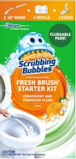 Scrubbing Bubbles Fresh Brush Toilet Bowl Cleaning System Starter Kit, Stain Removing, Citrus Action Scent, Includes: Wand + 4 Refills + 1 Stand
