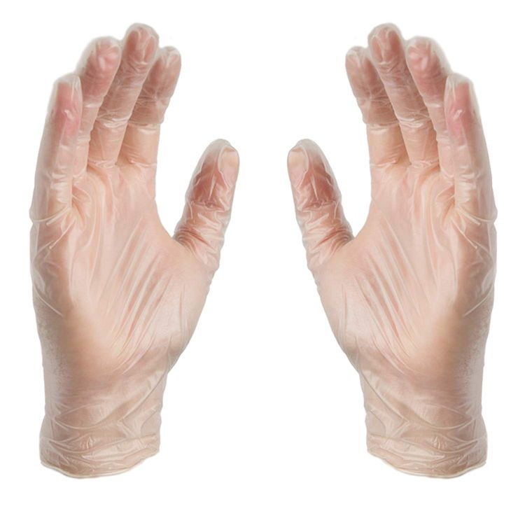 X3 Clear Vinyl Industrial Gloves, Box of 100, 3 Mil, Size Small, Latex Free, Powder Free, Disposable, Food Safe, GPX342100-BX