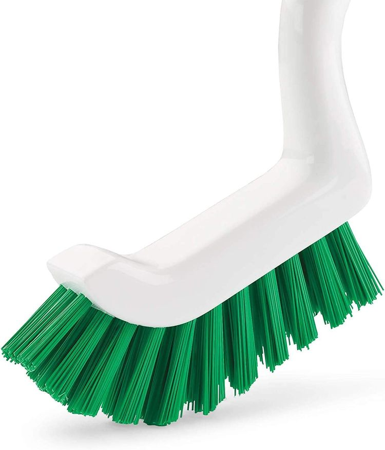 Libman Scrub Kit: Three Different Durable Brushes for Grout, Tile, Bathroom, Kitchen. Easy to Handle, Strong Fibers for Tough Messes – Family Made in The USA, Green White (1-Pack)