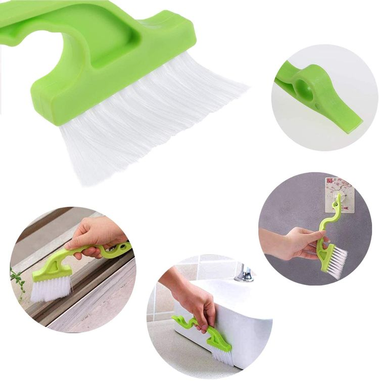 8 Pcs Hand-held Groove Gap Cleaning Tools,Door Window Track Cleaning Tools Groove Corner Crevice Cleaning Brushes for Sliding Door/Tile Lines/Shutter/Car Vents/Air Conditioner/Keyboard