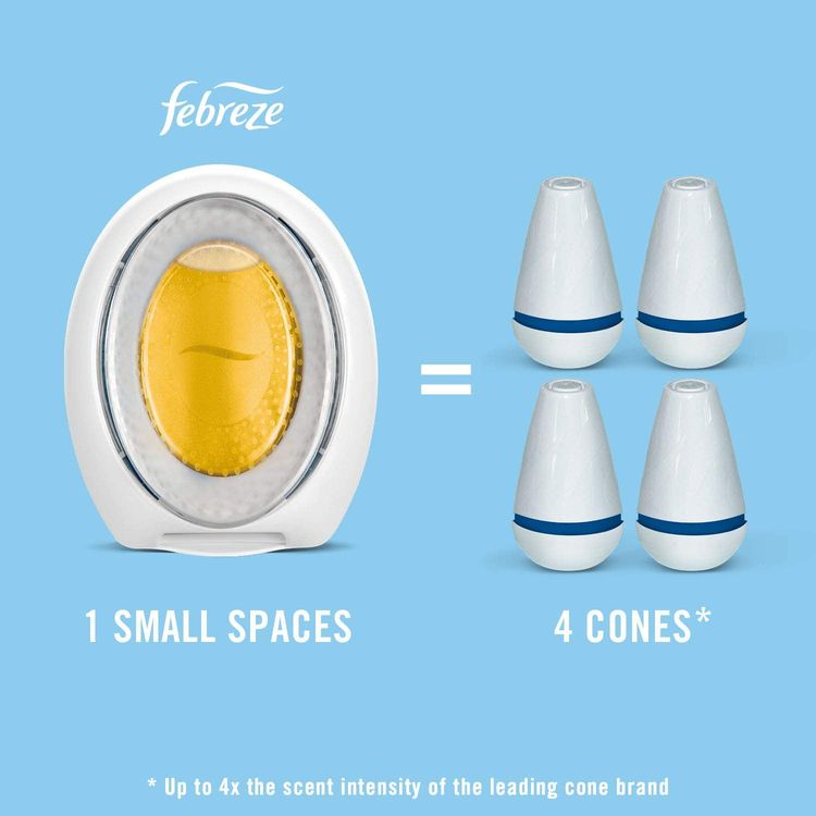Febreze Small Spaces Pet Air Freshener, Odor Eliminator for Home, Fresh Scent, 3 Count