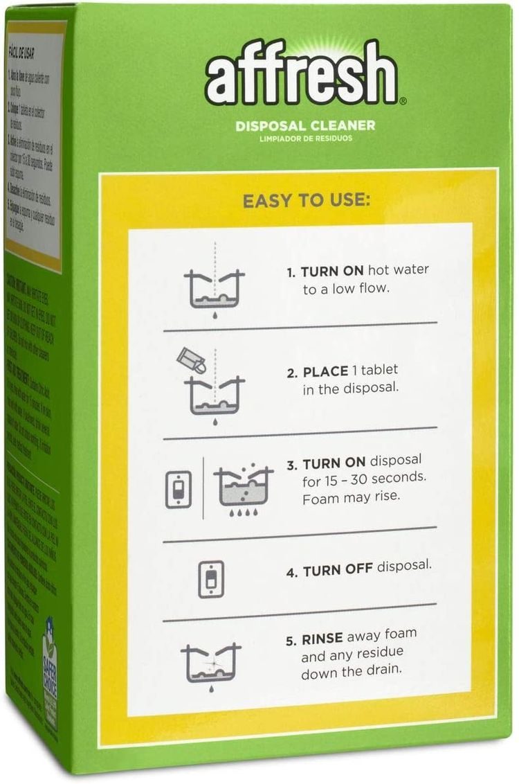 Affresh W10509526 Garbage Disposal Cleaner, 3 Tablets-Removes Odor Causing Residues, U.S. EPA Safer Choice Certified