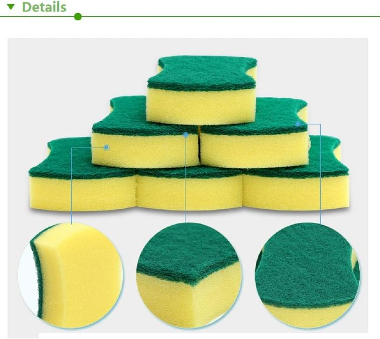 Kitchen Cleaning Sponges,Eco Non-Scratch for Dish,Scrub Sponges(Pack of 24)