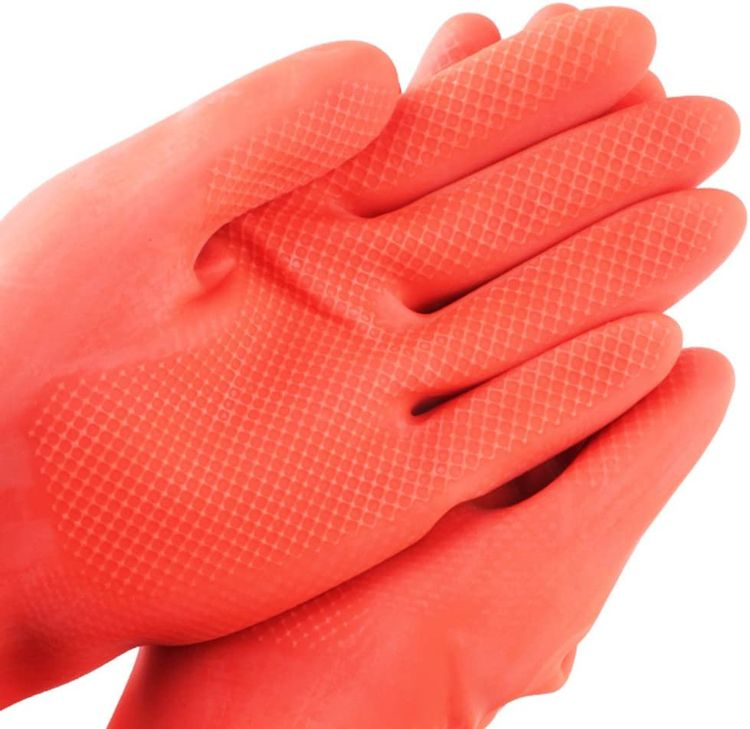 SYROVIA Household Arms Length Rubber Latex Cleaning Long Glove Reusable Kitchen Natural Rubber Living Wash Gloves