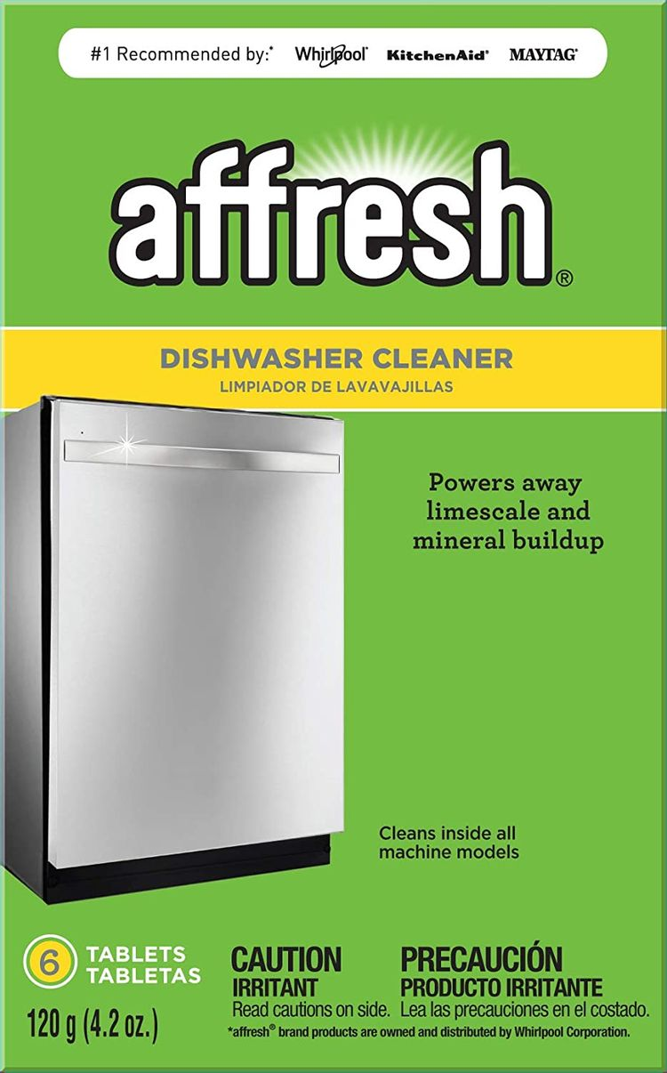 Affresh W10549851 Dishwasher Cleaner 6 Tablets Formulated to Clean Inside All Machine Models, Count