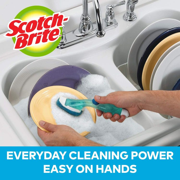 Scotch-Brite Non-Scratch Dishwand, Keeps Hands out of the Mess, Pack of 1