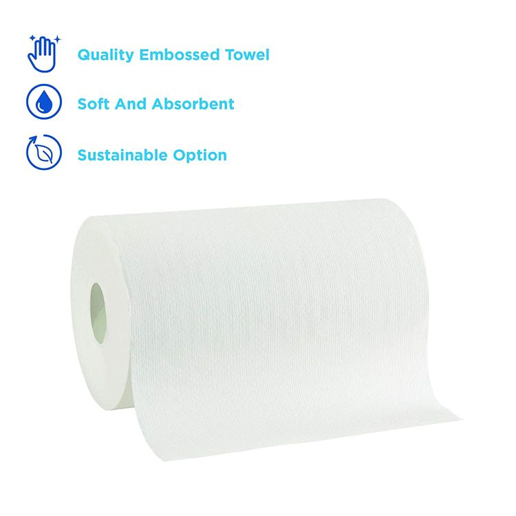 """Pacific Blue Ultra 9"""" Paper Towel Roll (Previously Branded SofPull) by GP PRO (Georgia-Pacific), White, 26610, 400 Feet Per Roll, 6 Rolls Per Case"""