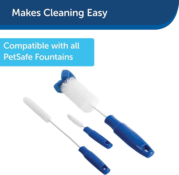 PetSafe Drinkwell Pet Fountain Cleaning Kit, 3 Brushes, Works with all PetSafe Cat and Dog Water Dispensers, Convenient and Easy to Use - CKPH
