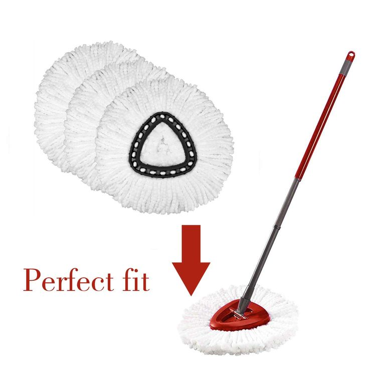 3 Pack Mop Replacement Heads Compatible with Spin Mop, Microfiber Spin Mop Refills, Easy Cleaning Mop Head Replacement