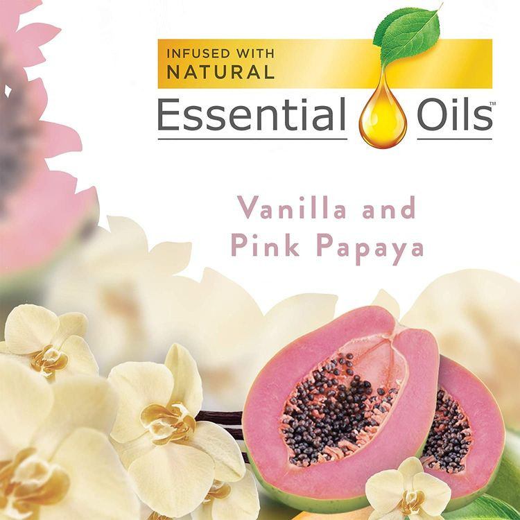 Essential Oils, Air Freshener, Packaging May Vary, Scented Oil 5 Refills, Vanilla and Pink Papaya, 5 x 0.67oz