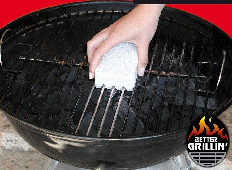 Better Grillin Scrubbin Stone Grill Cleaner-Scouring Brick/Barbecue Grill Brush/Barbecue Cleaner for BBQ, Griddle, Racks