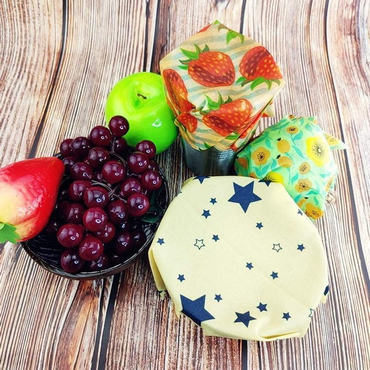 Zero Waste Reusable Storage Wrap Sustainable Organic Sandwich & Cheese Food Wrapping Paper Bpa Plastic Free Beeswax,1257-10A,S 17.5x20cm