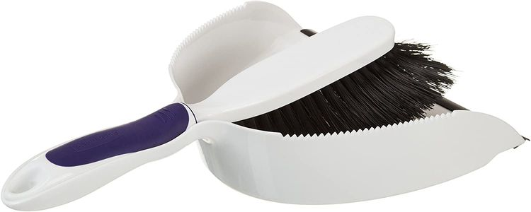 Rubbermaid Dustpan and Brush Set with Comfortable Grip - Rubber Edge Easy For Dirt Pickup