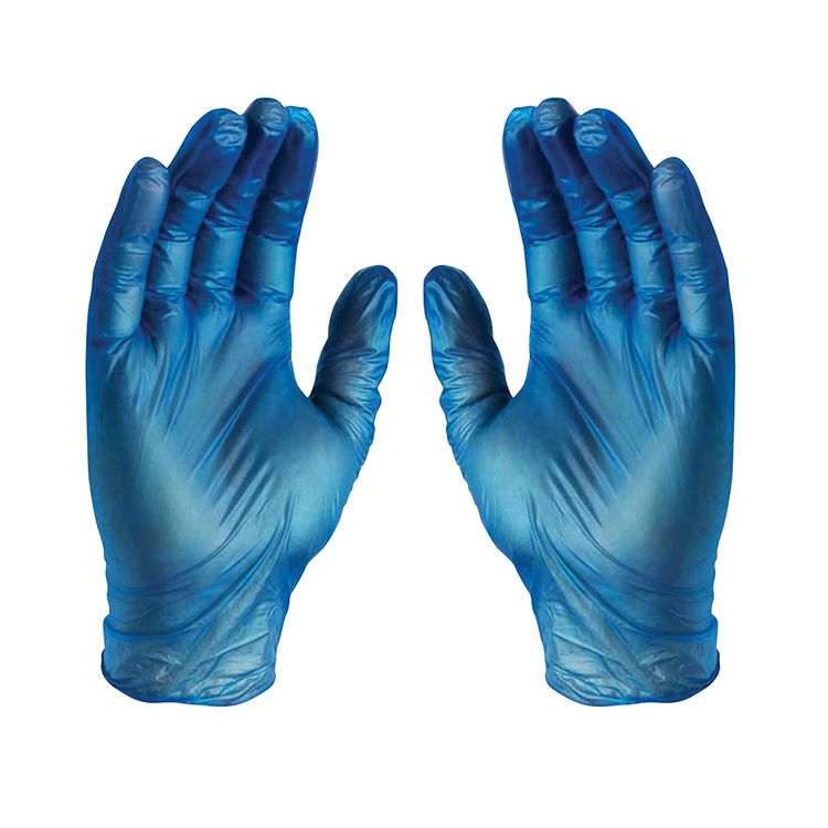 GLOVEWORKS Blue Vinyl Industrial Gloves, Box of 100, 3 Mil, Size Small, Latex Free, Powder Free, Food Safe, Disposable, Non-Sterile, IVBPF42100BX