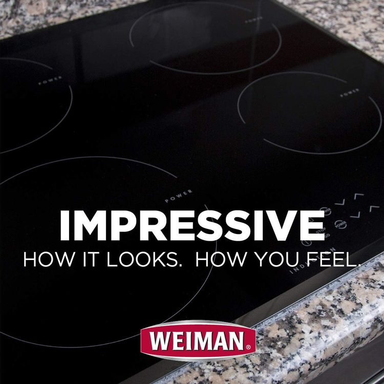 Weiman Glass Cooktop Heavy Duty Cleaner and Polish - 20 Ounce - Non-Abrasive No Scratch Induction Glass Ceramic Stove Top Cleaner and Polish