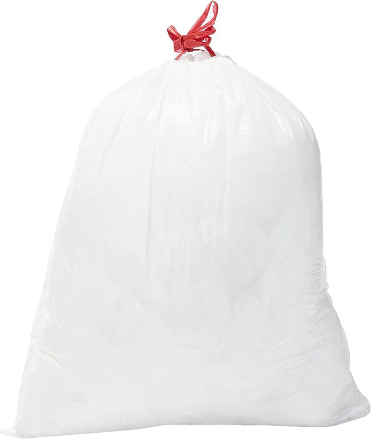 Brand - Solimo Tall Kitchen Drawstring Trash Bags, 13 Gallon, 45 Count