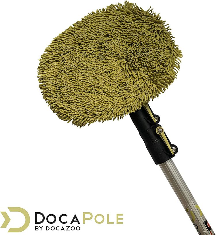 DocaPole Wall Duster | Chenille Microfiber Cleaning Head | for Use by Hand or with an Extension Pole | High Reach Duster for Walls and High Ceilings | Washable Cleaning Cloth (Pole NOT Included)