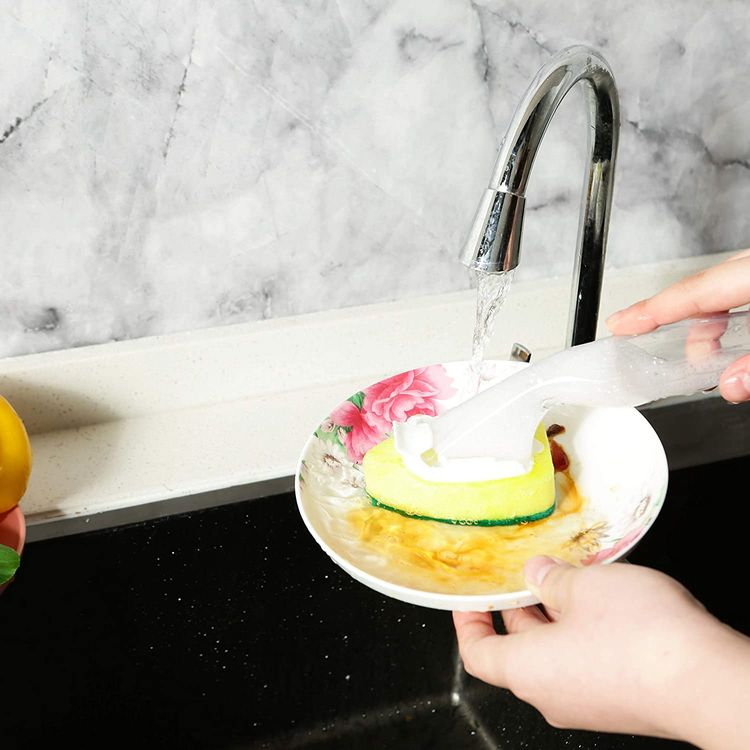 Heavy Duty Dish Wand Sponge Refill Replacement Heads for Kitchen Sink Pot Cleaning Dish Sponge