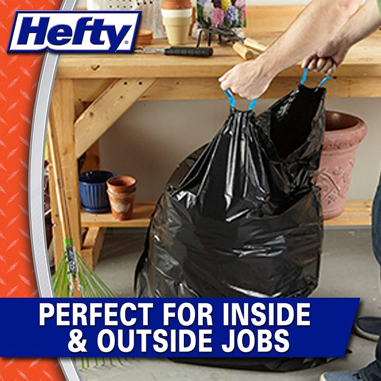 Hefty Strong Lawn & Leaf Trash Bags, 39 Gallon, 38 Count