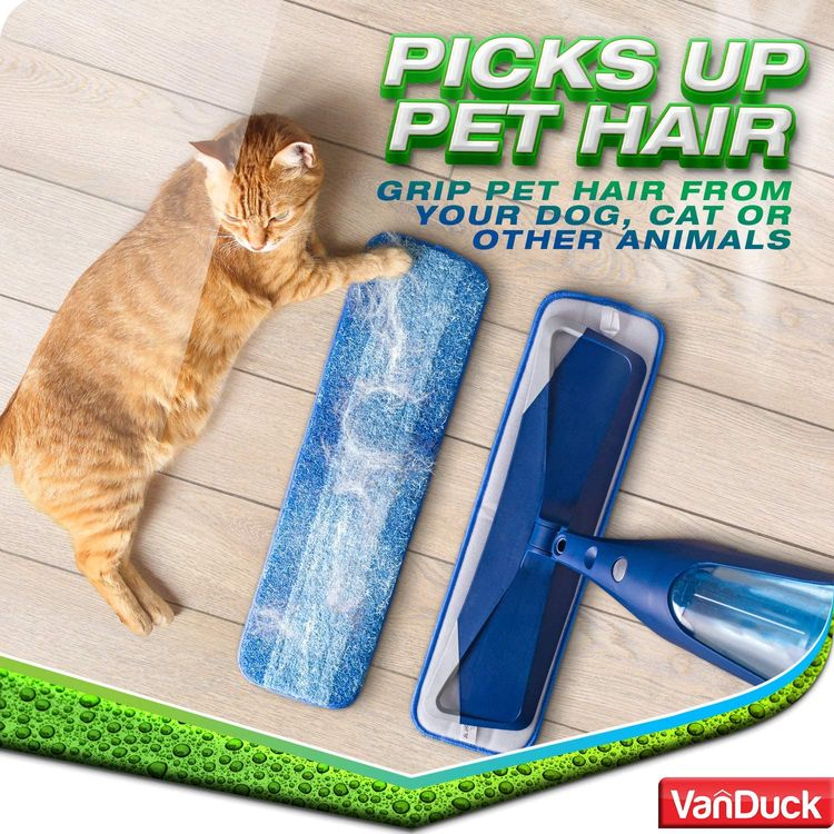 VanDuck Microfiber Cleaning Pads Compatible with Bona Mop (3 Pack). Hardwood Floor Replacement Cleaning Head