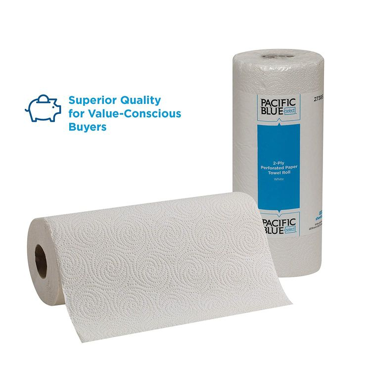 Pacific Blue Select 2-Ply Perforated Paper Towel Rolls by GP PRO (Georgia-Pacific), 27385, 85 Sheets Per Roll, 30 Rolls Per Case