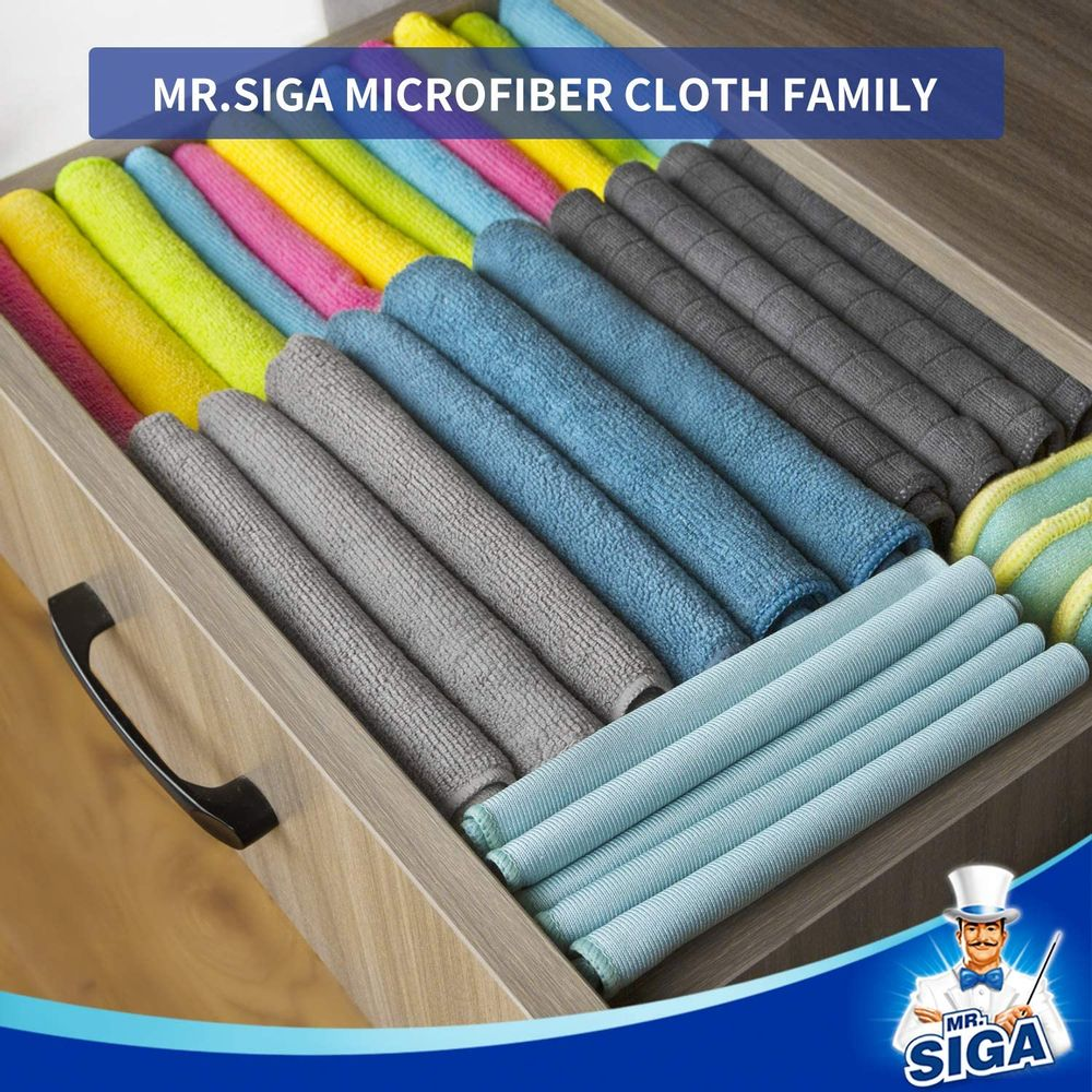 MR.SIGA Microfiber Cleaning Cloth, Pack of 12, Size: 32x32 cm