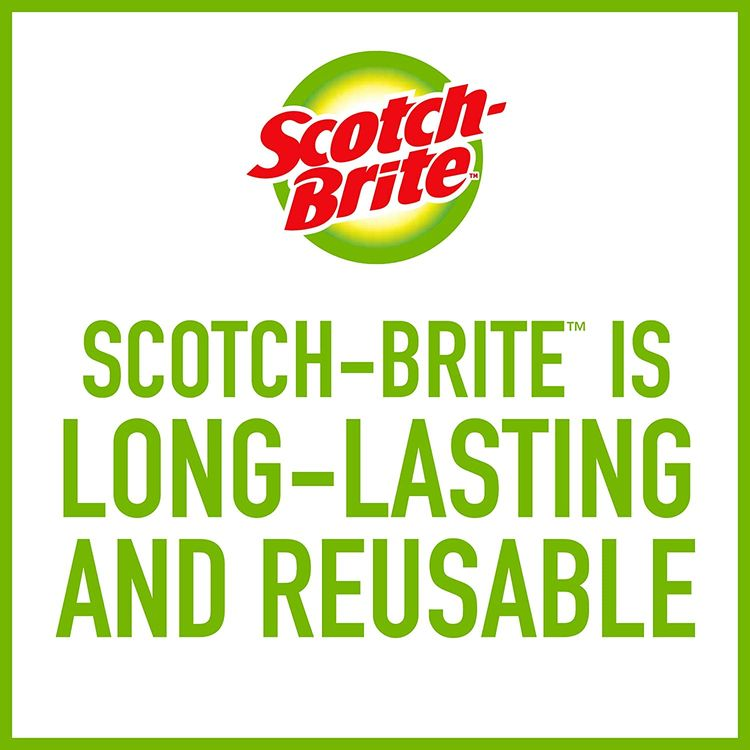 Scotch-Brite Stainless Steel Scrubbers, Ideal for Cast Iron Pans, 3 Scrubbers