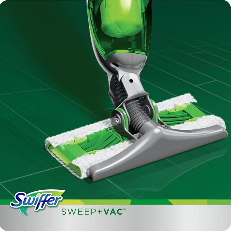 Swiffer Sweep and Vac Vacuum Cleaner for Floor Cleaning, Includes: 1 Rechargable Vacuum, 8 Dry Pads, 1 Charger