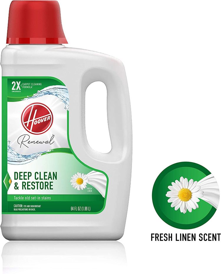 Hoover Renewal Deep Cleaning Carpet Shampoo, Concentrated Machine Cleaner Solution, 64oz Formula, AH30924, White