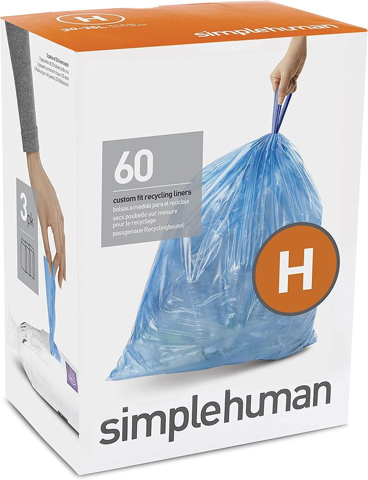 simplehuman Liners, 60, Blue, Count