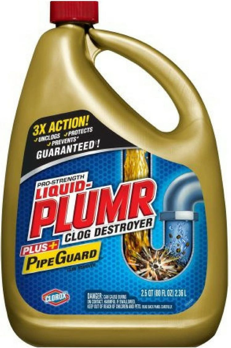 Liquid-Plumr Pro-Strength Drain Cleaning Clog Remover, Full Clog Destroyer, 80 oz