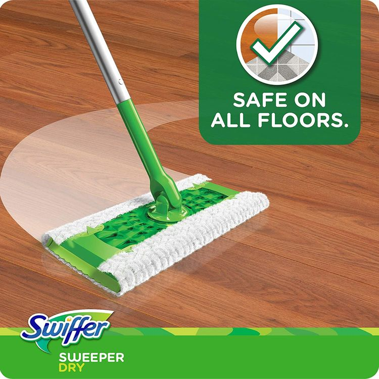 Swiffer Sweeper Dry Sweeping Pad Multi Surface Refills, for Dusters Floor mop, Gain Scent, 52 Count