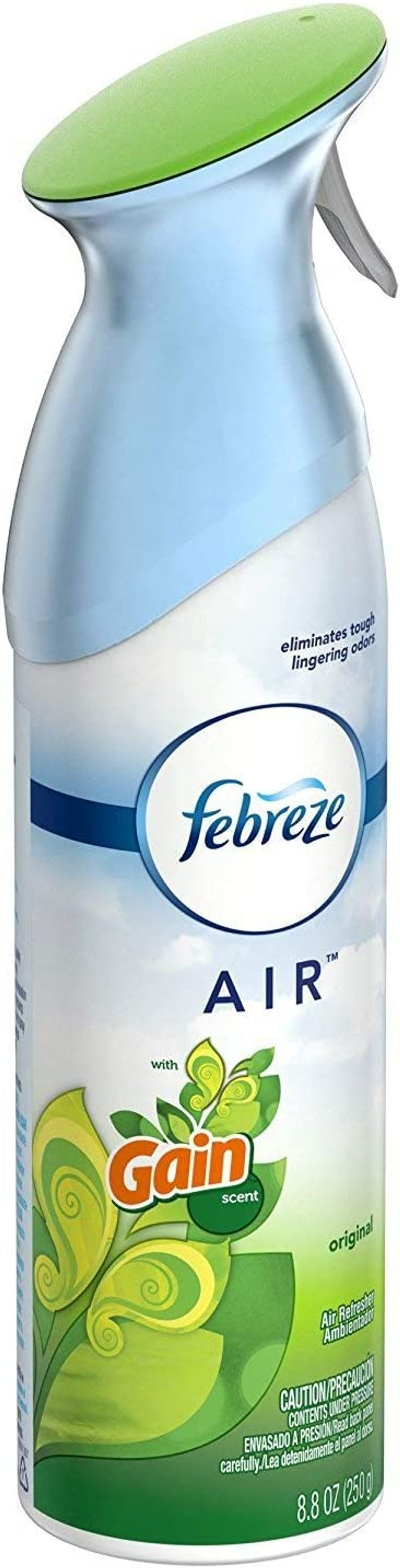 Febreze Air Refresher - Gain Original Scent - with New OdorClear Technology - Net Wt. 8.8 OZ (250 g) Per Bottle - Pack of 2 Bottles
