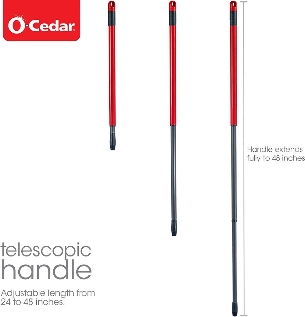 """O-Cedar EasyWring Spin Mop Telescopic Replacement Handle (Extends 48"""")"""