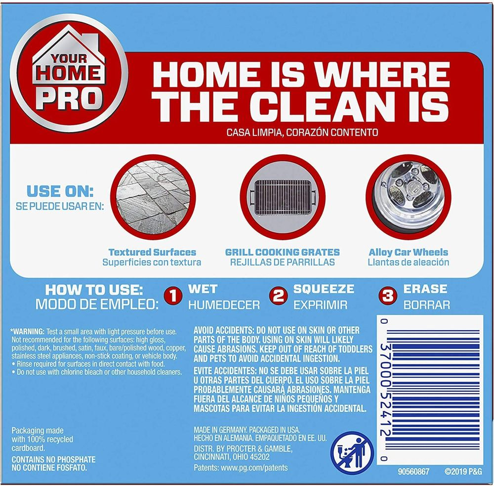 Mr. Clean Magic Eraser Extra Durable, Cleaning Pads with Durafoam, 10 Count