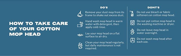 tidy tools cotton dust mop care guide