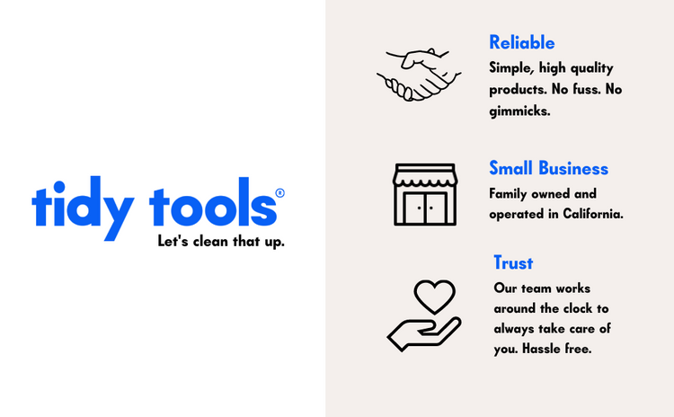 Tidy Tools promise.