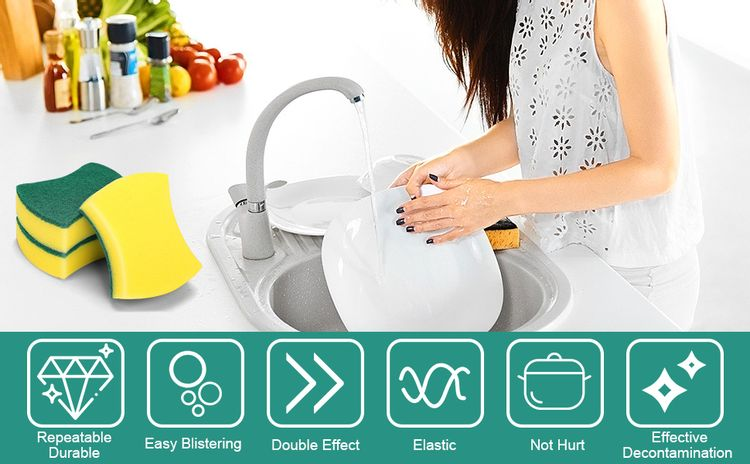 MAVGV 24 Pack Kitchen Cleaning Sponges,cleaning power  for fun everyday job.