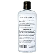 Thirteen Chefs food grade mineral oil easy to use directions