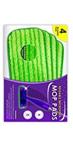 4 pack microfiber pads for wejet