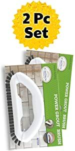 Grout Brush 2 Pack grout scrubber cleaner