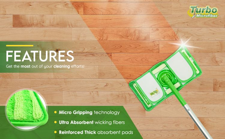 microfiber pads compatible with swiffer sweeper