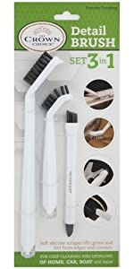 detail brush set for grout bathroom tile cleaning