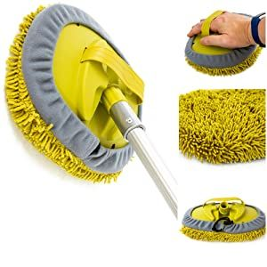 DocaPole Soft Brush clean house siding car cleaning kit extension pole telescopic pole with brush