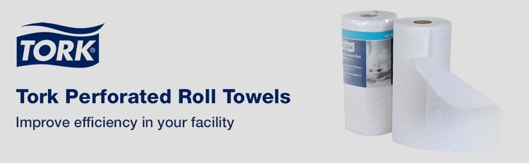 Tork Perforated Roll Towels improve efficiency in your facility