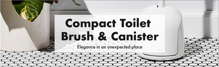 OXO Good Grips Hideaway Compact Toilet Brush, White