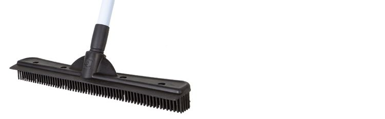 FURemover brush, pet hair removal brush, squeegee, compact, telescoping handle, Evriholder